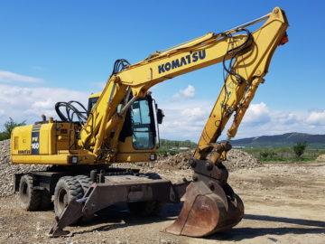 Excavator pe roți Komatsu PW 160-7
