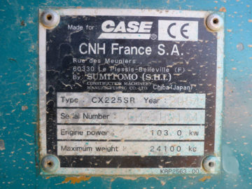 Excavator pe șenile CASE CX 225SR