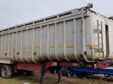 Semiremorcă basculabilă de aluminiu Fruehauf 50 mc